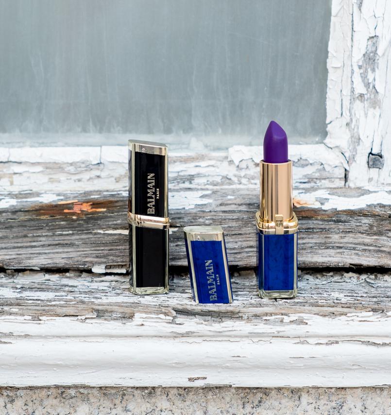 Le Fashionaire L'oréal X Balmain: Os meus 3 batons preferidos batons loreal balmain glamazone liberation freedom roxo nude purpura 0583 PT 805x854