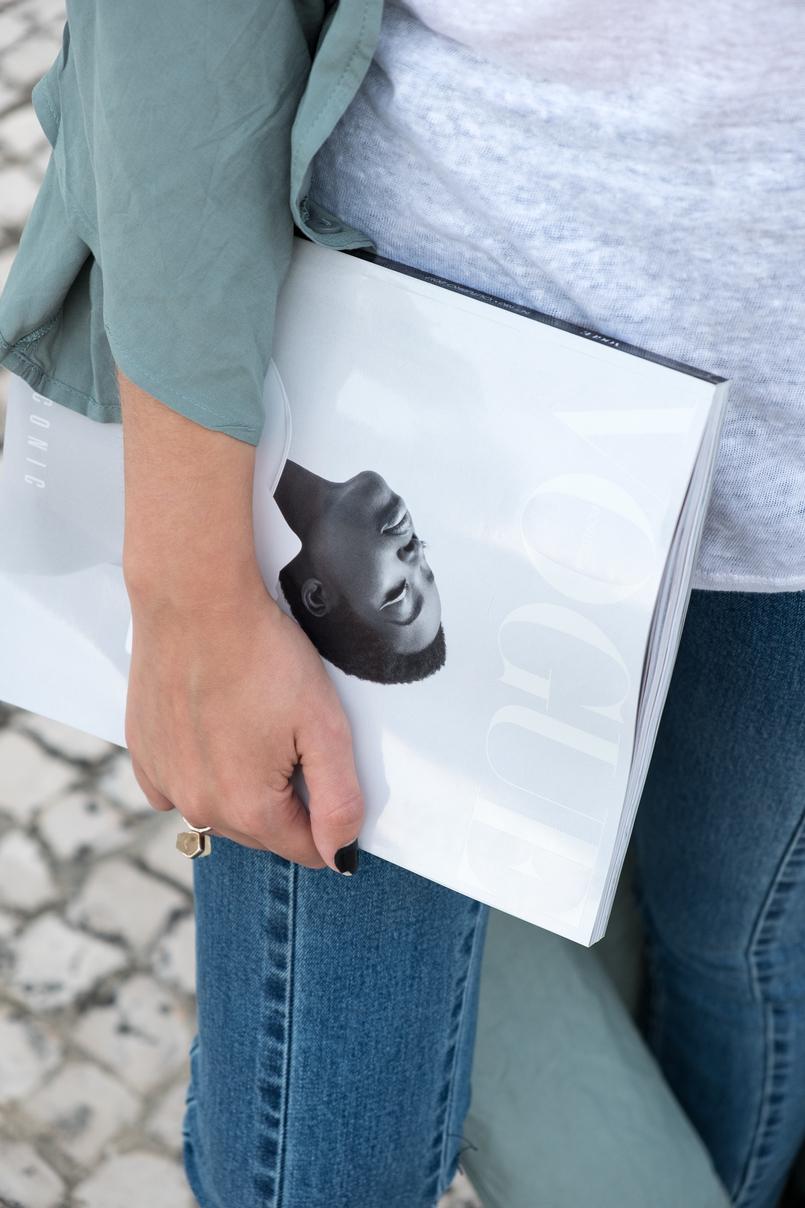 Le Fashionaire Como escolher os jeans perfeitos? casaco verde menta comprido vestido nakd top branco linho zara vogue portugal iconic preto branco maria borges 5448 PT 805x1208