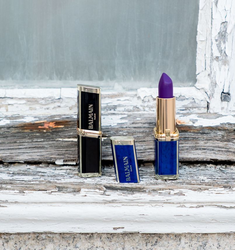 Le Fashionaire L'oréal X Balmain: my top 3 lipsticks loreal balmain lipsticks packaging shades glamazone liberation freedom nude purple dark 0583 EN 805x854