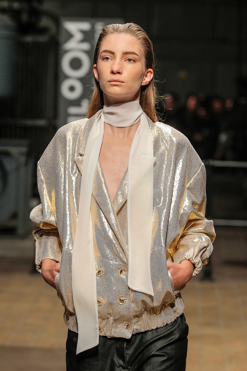 Le Fashionaire Portugal Fashion: Os meus desfiles preferidos portugal fashion bomber dourado metalizado olympia davide OlimpiaDavide 017 PT 805x1208