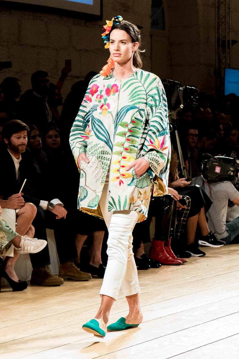 Le Fashionaire Portugal Fashion: Os meus desfiles preferidos portugal fashion casaco tropical micaela oliveira 9379 PT 805x1208