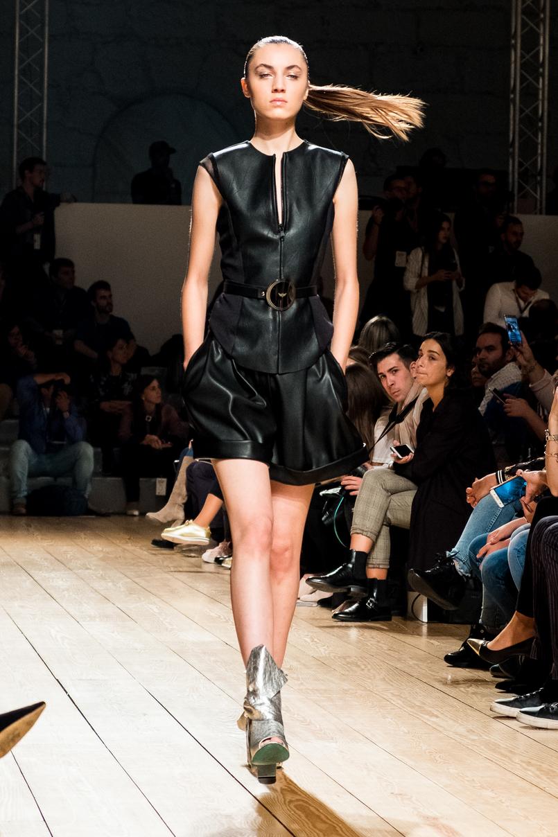 Le Fashionaire Portugal Fashion: My favorite fashion shows portugal fashion miguel vieira leather black vest shorts 8302 EN 805x1208
