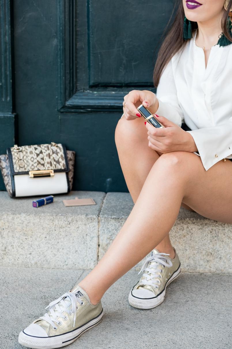 Le Fashionaire L'oréal X Balmain: Os meus 3 batons preferidos sapatilhas douradas converse batons loreal balmain glamazone liberation freedom roxo nude purpura 0663 PT 805x1208