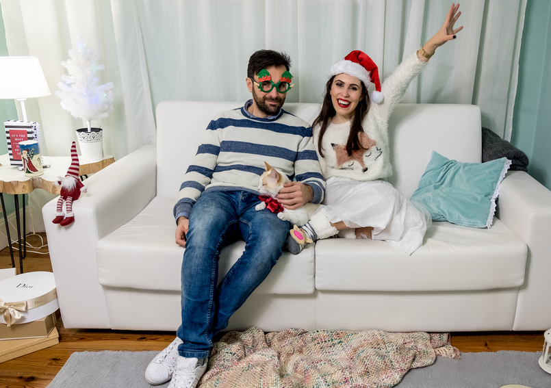 Le Fashionaire Feliz Natal! calcas ganga arvore natal kiko gato fofinho laco vermelho cetim camisola felpuda raposa zara kids oculos verdes renas 4414 PT 805x567