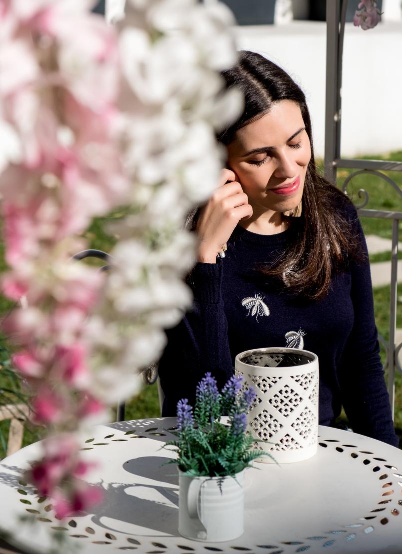 Le Fashionaire Encontrei o Cristal no coração do Porto hotel cristal porto jardim camisola mohair azul bordada insectos uterque 3880 PT 805x1109