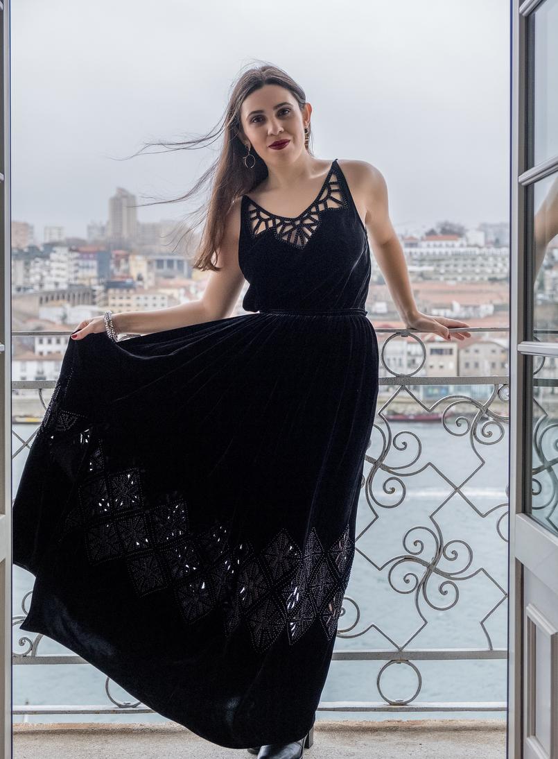 Le Fashionaire Hotel Pestana Vintage: Charme na zona ribeirinha do Porto pestana vintage hotel ribeira velvet black top maxi skirt laser cut massimo dutti 6055 PT 805x1094
