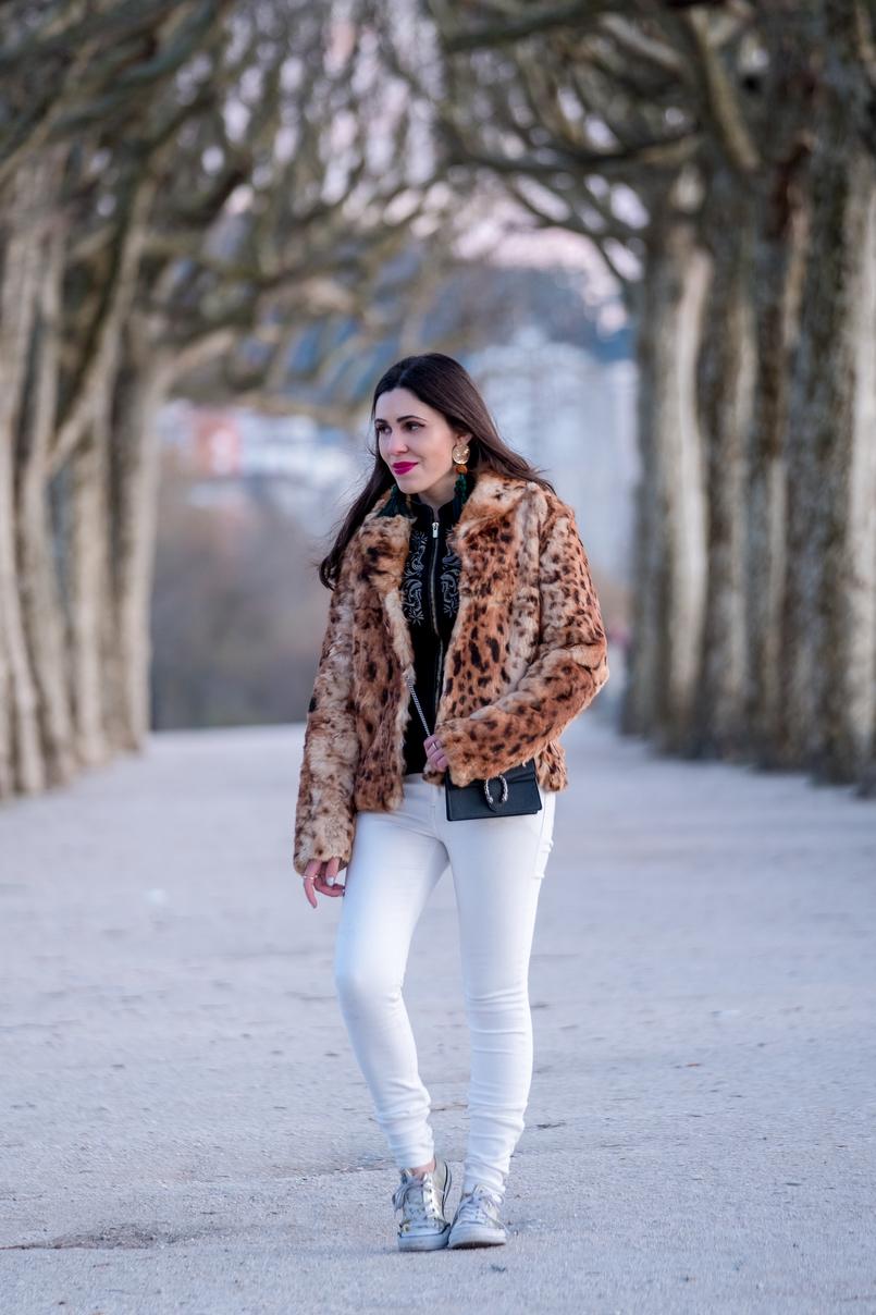 Le Fashionaire 3 dicas para ser mais feliz na vida casaco pelo leopardo castanho morgan carteira gucci mini dionysus pele casaco pelo leopardo castanho preto morgan brincos grandes franjas verde dourado 0337 PT 805x1208