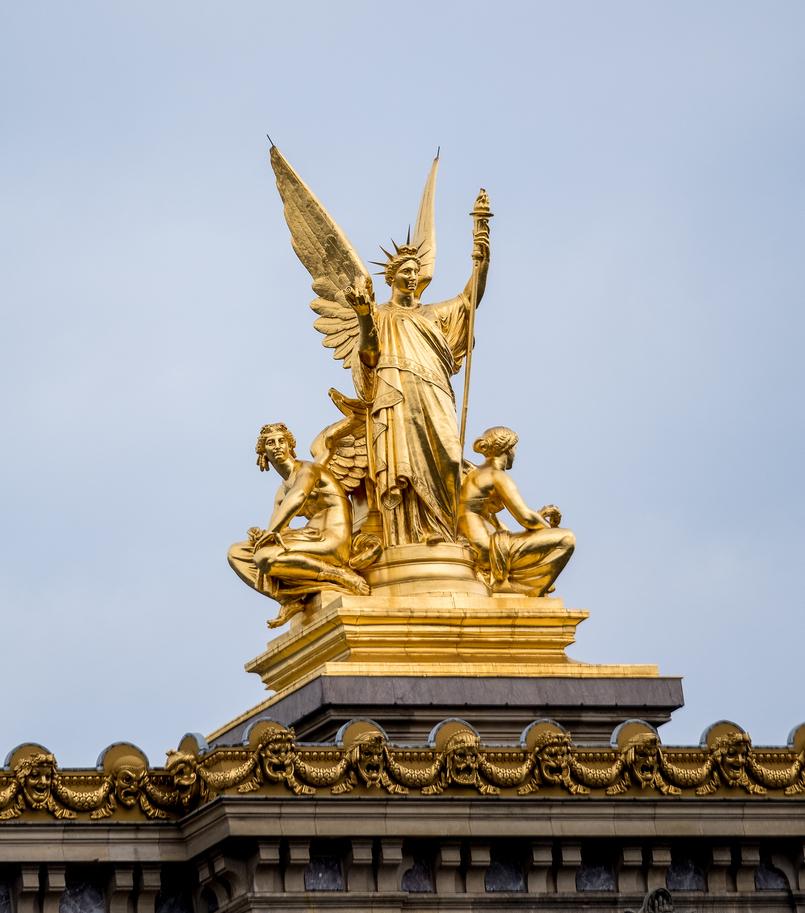 Le Fashionaire Ir a Paris sem uma boina nem é ir a Paris! Opera Garnier Paris anjo harpa ouro 3607 PT 805x913