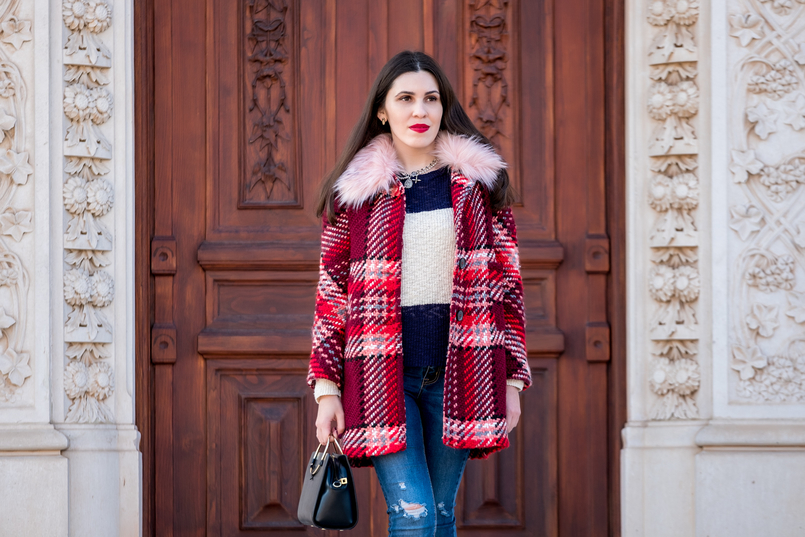 Le Fashionaire Mid   season sales are for buying coats wool red faux fur pale pink neck zara plaid coat dark blue white stripes mango cotton sweater cross silver parfois charms necklace 1771 EN 805x537