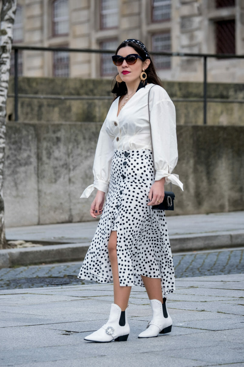 Le Fashionaire Where to shop for cool and cheap sunglasses white zara front buttons bow sleeves shirt polka dots front buttons zara skirt cowboy white stradivarius boots crystals 7276 EN 805x1208