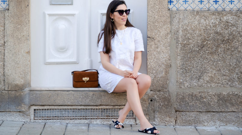 Le Fashionaire Hey you sales! white embroidered linen zara dress satin polka dots slides gold old necklace heart mango sunglasses 1898F EN 805x450