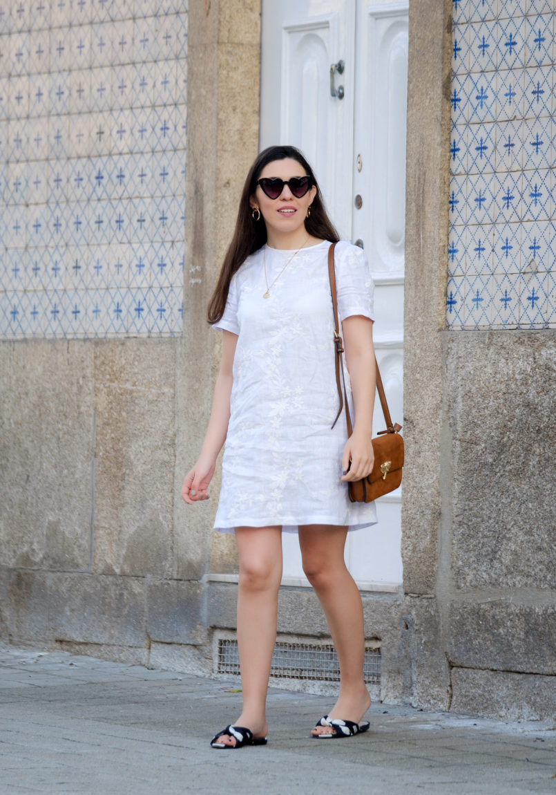 Le Fashionaire Hey you sales! white embroidered linen zara dress satin polka dots slides gold old necklace heart mango sunglasses 1932 EN 805x1150