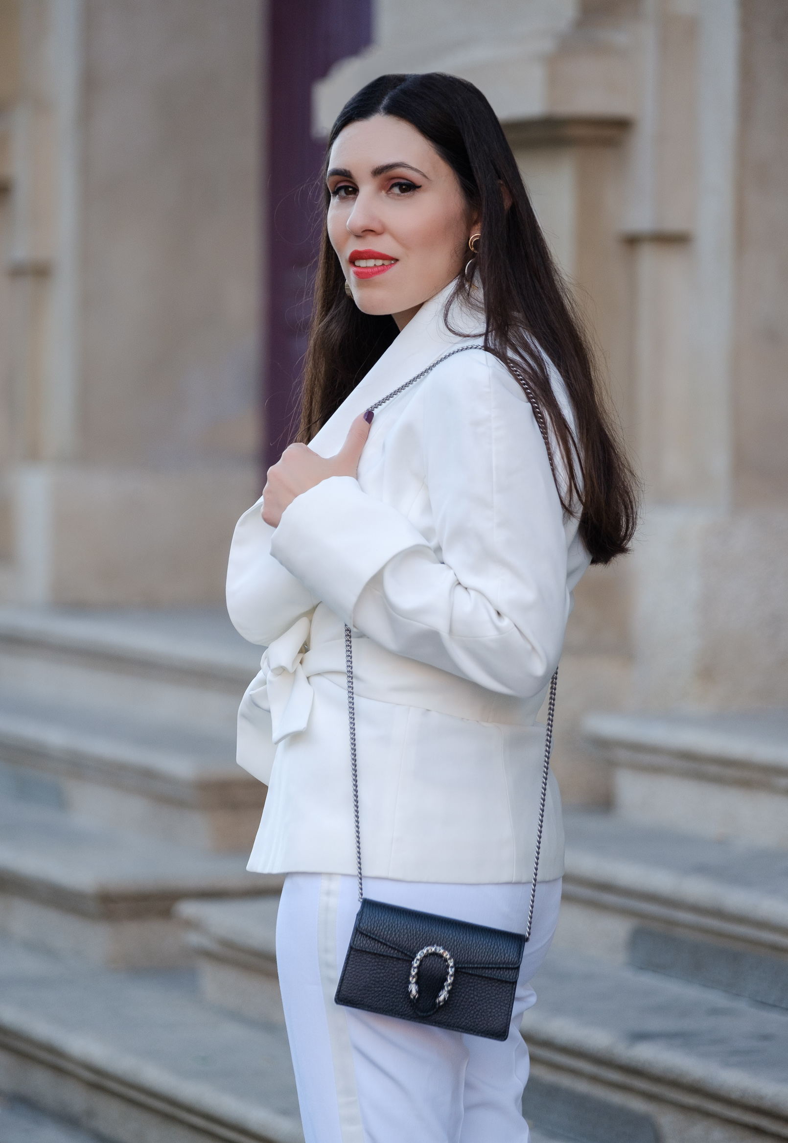 Le Fashionaire white zara trousers White zara bow jacket gucci mini dionysus bag 1739 EN white zara trousers White zara bow jacket gucci mini dionysus bag 1739 EN