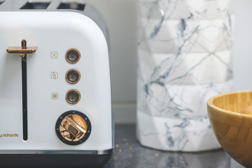 Le Fashionaire My kitchen is a successful recipe gold white morphy richards toaster 2894 EN 805x537