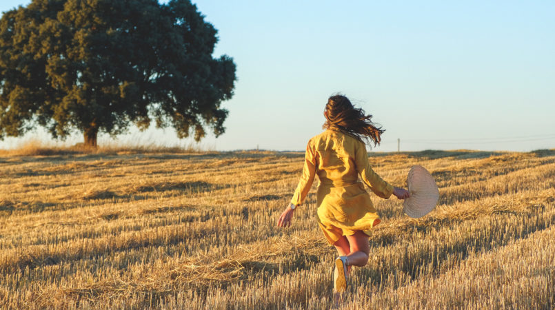 Le Fashionaire Alentejo makes me feel free linen yellow zara dress alentejo Cork oak beautiful field 3768F EN 805x450
