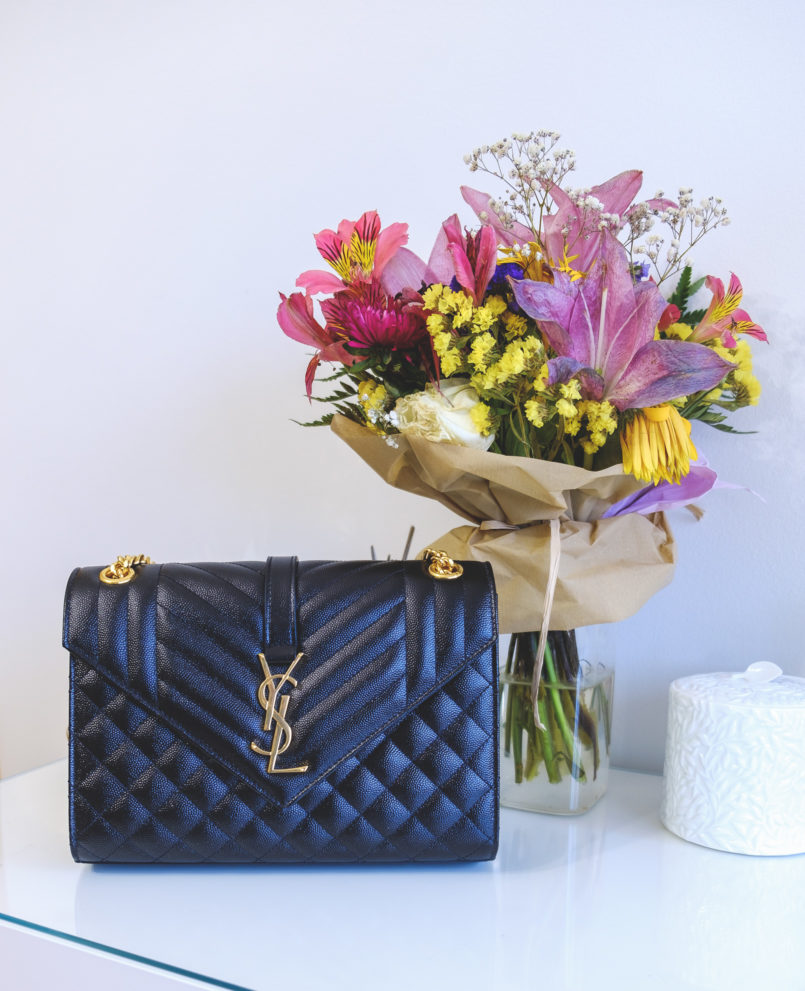 Le Fashionaire Is it worth it buying a Saint Laurent bag? ysl saint laurent black gold chain hardware luxury bag closet flowers roses bouquet 4363 EN 805x991