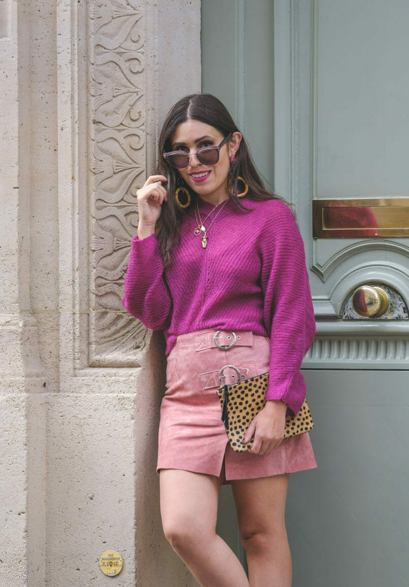 Le Fashionaire Why Pink October is so important purple mohair mango knit bold long zara bamboo pink earrings leopard leather sfera clutch gold swallow cinco store necklace 9086 EN 805x1154