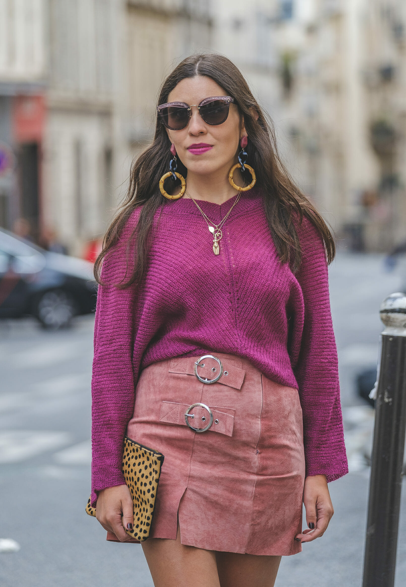 Le Fashionaire purple mohair mango knit pale pink leather buckles skirt bold long zara bamboo pink earrings leopard leather sfera clutch miu miu grey pink sunglasses 9058 EN purple mohair mango knit pale pink leather buckles skirt bold long zara bamboo pink earrings leopard leather sfera clutch miu miu grey pink sunglasses 9058 EN