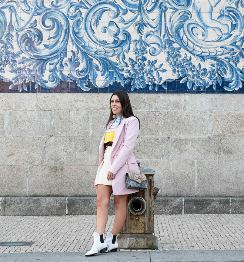 Le Fashionaire Why is silk so expensive? silk ruffles pale pink blue brown yellow massimo dutti blouse oversized boohoo pink blazer stradivarius white jewel cowboy boots 9910 EN 805x865