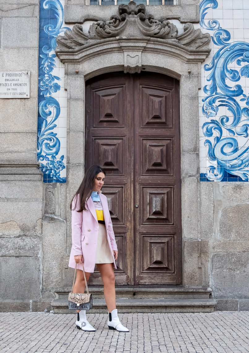 Le Fashionaire Why is silk so expensive? silk ruffles pale pink blue brown yellow massimo dutti blouse oversized boohoo pink blazer stradivarius white jewel cowboy boots 9994 EN 805x1141