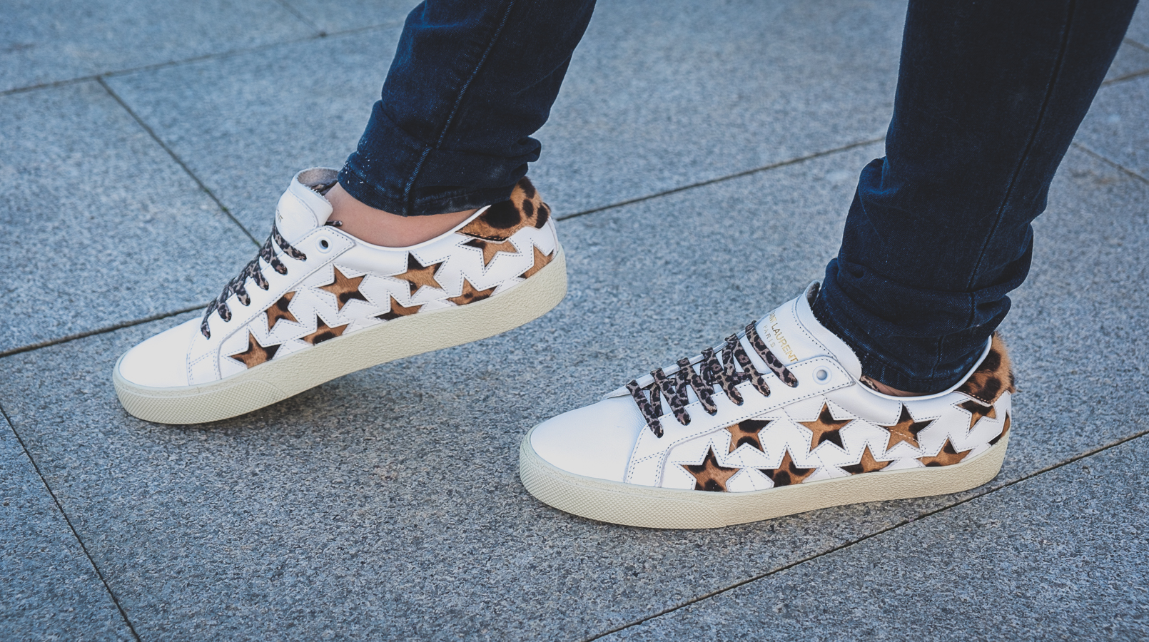 Le Fashionaire Is it worth it buying Saint Laurent Sneakers? white stars leopard saint laurent leather sneakers 5024F EN