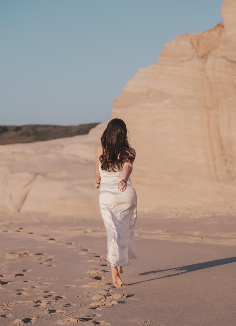 Le Fashionaire Pessoal: Há paz na solidão vestido cetim renda branco estilo lingerie zara praia 8539 PT 805x1110